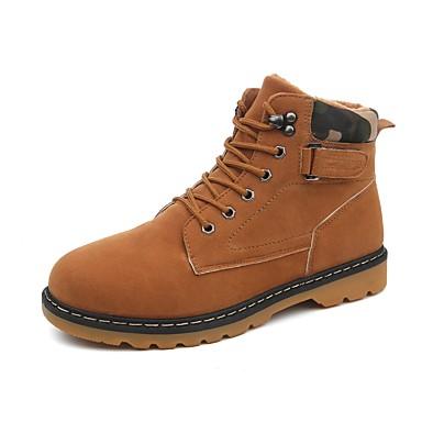 Miehet kengät Mokkanahka Kevät Syksy Talvi Comfort Maiharit Bootsit Käyttötarkoitus Kausaliteetti Musta Sininen Khaki