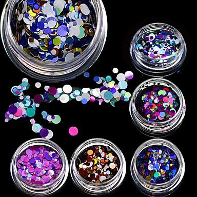 1 pcs Glitter & Poudre kiiltää / Muoti Lovely Päivittäin Nail Art Design