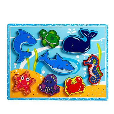 voordelige 3D-puzzels-Legpuzzel / Educatief speelgoed Dolfijn / Vissen / Octopus Noviteit Hout Jongens / Meisjes Geschenk