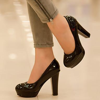 Puntiagudo Invierno Tacón Zapatos 05381305 Rojo Negro Dedo Tacones Nudo PU Cuadrado Confort Otoño Mujer Cxpdqp