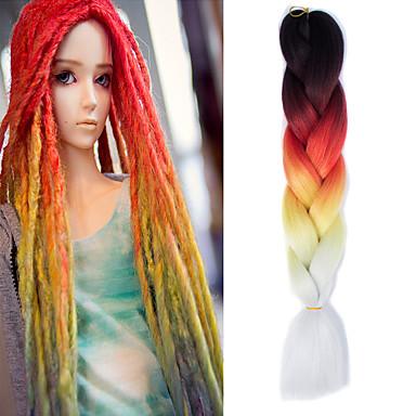 Jumbo-Zöpfe Haarzöpfe Geflochtene Haarzöpfe Getönte Haarteile zum Flechten 100 % Kanekalon-Haar Geflochtenes Haar Haarverlängerungen