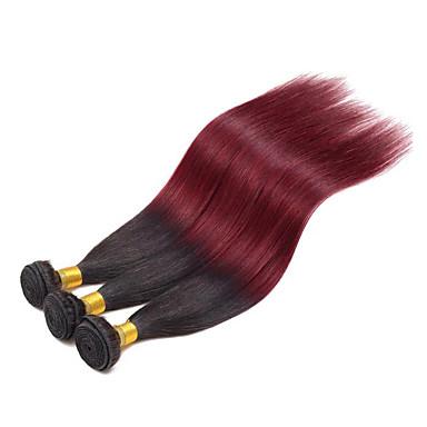 Nyanse Brasiliansk hår Rett 1 Deler hår vever
