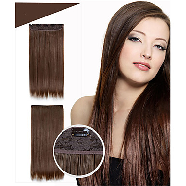 Pelo sintético La extensión del pelo Recto Clásico Con Clip Diario Alta calidad