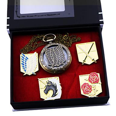 時計/腕時計 / バッジ に触発さ 進撃の巨人 エレン・イェーガー アニメ系 コスプレアクセサリー バッジ / 時計/腕時計 ゴールド 合金