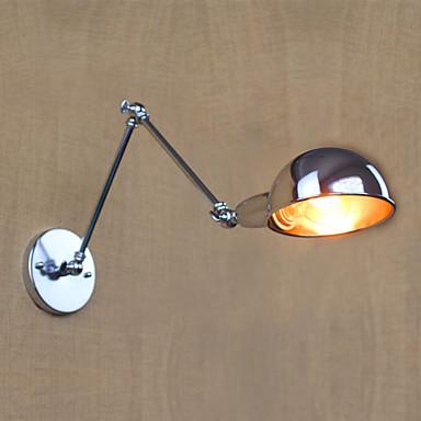 交流110V-130V /交流220V-240Vの40ワットE27 b035lスタイルダブルクロームシルバー銀メッキ装飾ロングアーム壁の燭台壁ライト