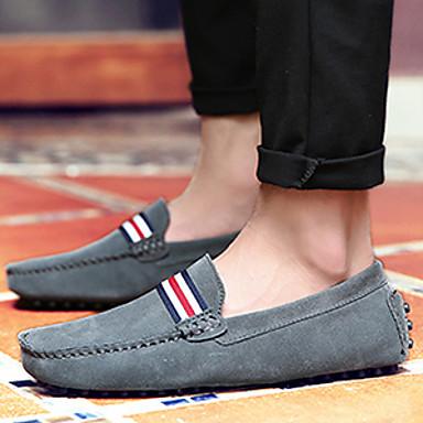 MokkasiinitMiehet-Nappanahka-Musta Harmaa Punainen Sininen-Rento-Comfort