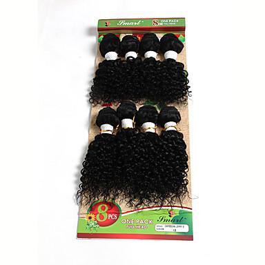 Cabello Brasileño Ondulado / Tejido rizado Cabello humano Tejidos Humanos Cabello Cabello humano teje Extensiones de cabello humano