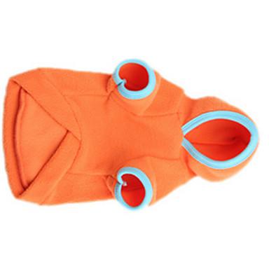 ネコ / 犬 コート 犬用ウェア ソリッド オレンジ コットン コスチューム ペット用 男性用 / 女性用