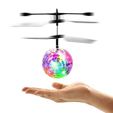 hesapli Oyuncaklar ve Oyunlar-Mini Sihirli Uçan Top Uçan Gereçler Hava Aracı Helikopter Karanlıkta Parlayan LED Kızılötesi Sensöz ile birlikte Plastik Çocuklar için Yetişkin Unisex Genç Erkek Genç Kız Oyuncaklar Hediye / Florasan