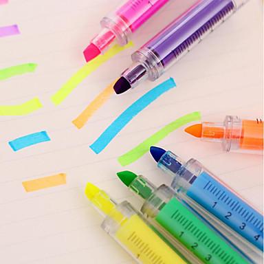 Markører og highlighters Penn Merkepenne Penn,Plast Tønne blekk farger For Skole materiell Kontorrekvisita Pakke med