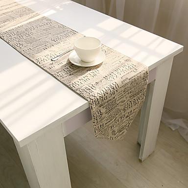 長方形 フラワー パターン柄 テーブルランナー , コットンブレンド 材料 表Dceoration ホテルのダイニングテーブル