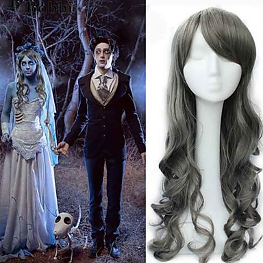 Synteettiset peruukit Runsaat laineet Naisten Suojuksettomat Cosplay-peruukki Synteettiset hiukset
