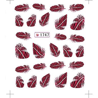 3 Nail Art tarra Veden siirto Decals meikki Kosmeettiset Nail Art Design