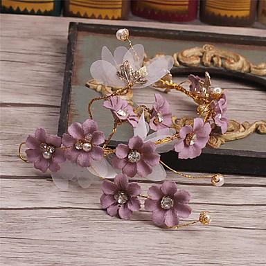 人造真珠 ファブリック 合金 - ヘアークリップ 1 結婚式 パーティー カジュアル かぶと