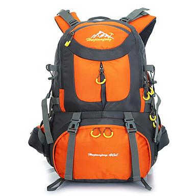 40 L バックパック サイクリングバックパック バックパッキング用バックパック キャンピング&ハイキング 登山 レジャースポーツ サイクリング / バイク 旅行 防水 高通気性 耐衝撃性の キャンバス
