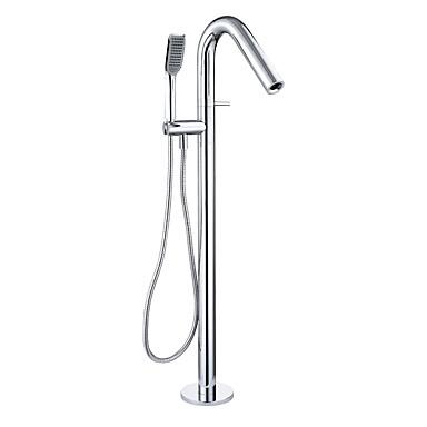 Grifo de bañera - Moderno Cromo Montado en el suelo Válvula Cerámica