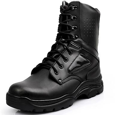 Unisex Zapatos Cuero Primavera Verano Otoño Invierno Botas de Combate Botas hasta el Tobillo Botas de Moda Botas Camperas Confort Botas