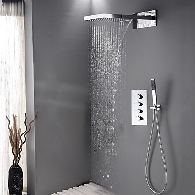 shower systems with rain head. Contemporary Shower System Waterfall Rain  Handshower