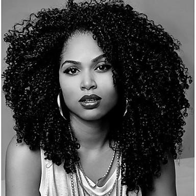 Cabello humano Encaje Frontal Peluca Kinky Curly Peluca 130% Densidad del cabello Entradas Naturales Peluca afroamericana Atado 100 % a mano Mujer Corta Media Larga Pelucas de Cabello Natural