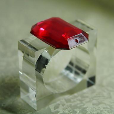 Rectangulaire Patterned / Geometric / Holiday Napkin Ring , Acrylic materiaaliSisustus / Hotel ruokapöytä / Häät Party Sisustus / Häihin
