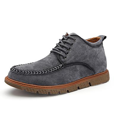 メンズ 靴 ピッグスキン 春 秋 冬 コンフォートシューズ ファッションブーツ ブーツ 用途 カジュアル ブラック グレー Brown