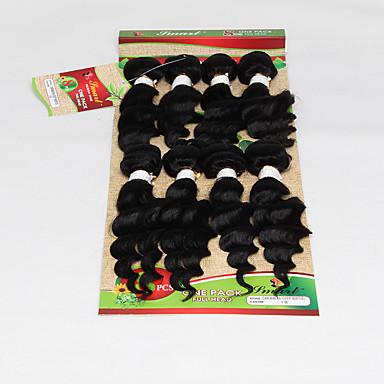 Brasilialainen Laineita Hiukset kutoo Hiukset kutoo Musta