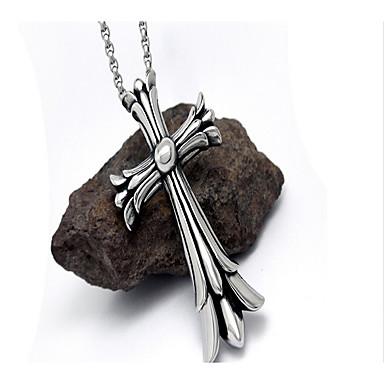 Herre Anheng Halskjede Titanium Stål Hengende Dyredesign Dobbelt lag Smykker Til Daglig Avslappet