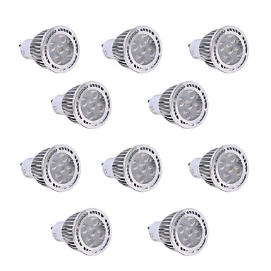YWXLIGHT® 10pcs 450-500lm GU10 LED-spotpærer 5 LED perler SMD 3030 Dekorativ Varm hvit Kjølig hvit 85-265V