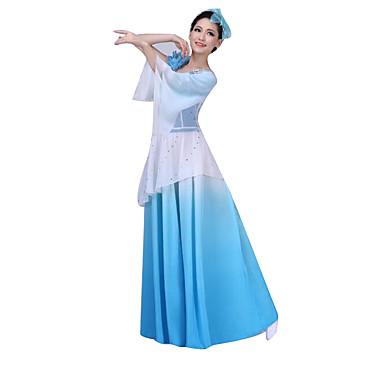 Cosplay Kostumer Kvinnelig Festival / høytid Halloween-kostymer Rosa Blå Ensfarget