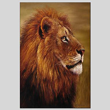 Pintura al óleo pintada a colgar Pintada a mano - Animales Clásico / Modern Lona / Lona ajustada