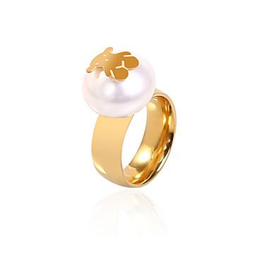 Damen Ring Bandring - Golden Ring Für Alltag Normal