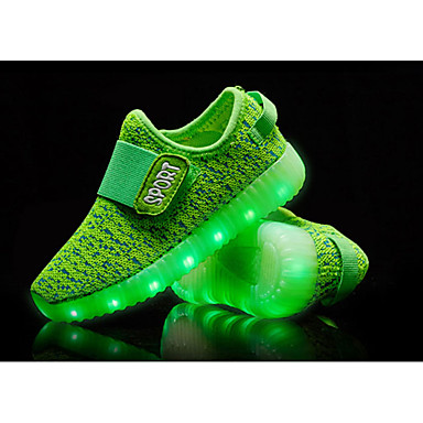 cheap Kids' Athletic shoes-Boys' Shoes Knit Fall Comfort / Light Up Shoes Athletic Shoes LED for Green / Blue / Pink / TR