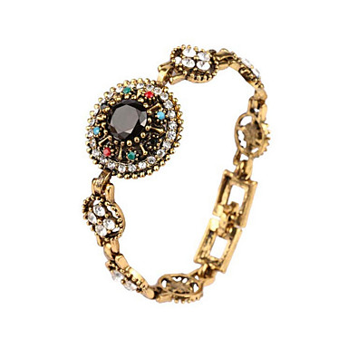 Damen Ketten- & Glieder-Armbänder Europäisch Böhmen-Art Luxus-Schmuck vergoldet Diamantimitate Aleación Blumenform Schmuck FürParty