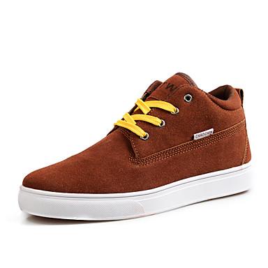 Herren-Sneaker-Lässig-LeinwandKomfort-Schwarz Braun Grün Grau
