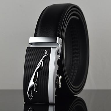 Hombre Elegante, Piel / Legierung Cinturón de Cintura - Lujo / Trabajo / Casual Un Color