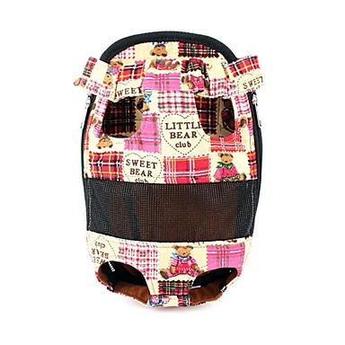 ネコ 犬 キャリーバッグ フロントバックパック ペット用 キャリア 携帯用 キュート レッド