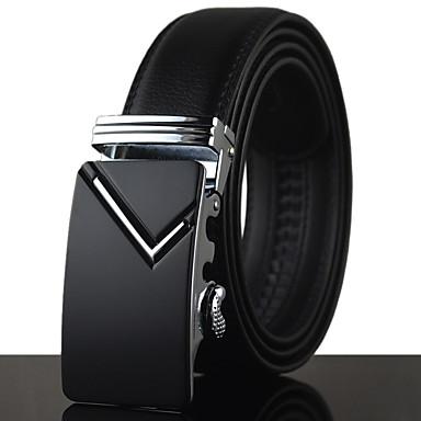 Homens Luxo Trabalho Casual Pele Liga, Cinto para a Cintura - Fashion Sólido