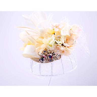 voordelige Hoeden-Tule / Strass / Net hatut met 1 Bruiloft / Speciale gelegenheden / ulko- Helm