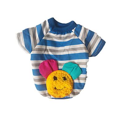 Hunde T-shirt Blau Hundekleidung Sommer Frühling/Herbst Streifen Lässig/Alltäglich