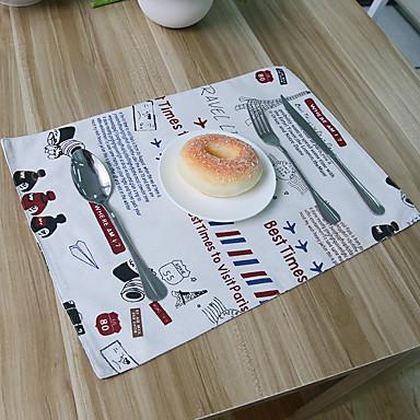 Neliö Kukka Patchwork Patterned Placemats , Cotton Blend materiaali Hotel ruokapöytä Taulukko Dceoration
