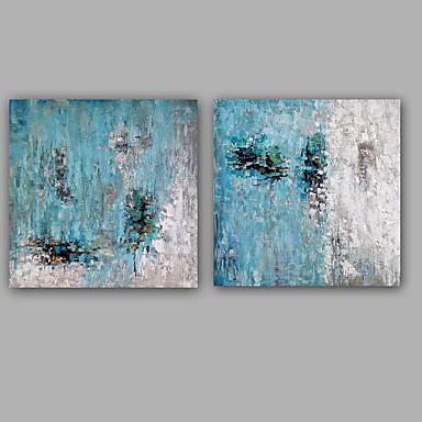 Pintura a Óleo Pintados à mão - Abstrato Estilo Europeu Modern Tela de pintura