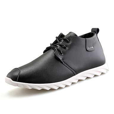 Herren-Outdoor-Lässig-PU-Niedriger Absatz-Komfort-Schwarz Braun Weiß