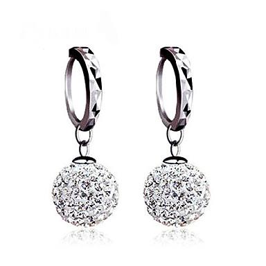 Damen Kugel Sterling Silber Kubikzirkonia Silber Ohrstecker Kugel-Ohrringe Ohrring - Klassisch Grundlegend Silber Ohrringe Für Hochzeit