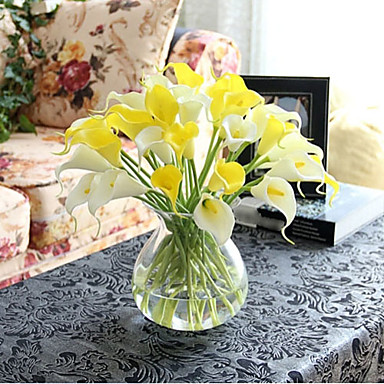 10 Branch Europe Style PU True Feel Callalily Artificial Flower