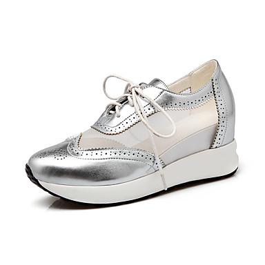 Basket Automne Bleu Plateau Printemps Chaussures Eté Lacet 05491584 Bout Femme Similicuir Marche Argent rond Rose xTwIXZgqg