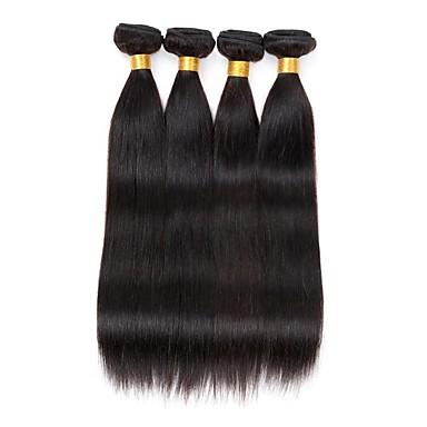 4 bundles brazilian straight human hair weave extensions 400g