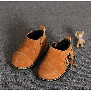 Mädchen Baby-Stiefel-Lässig-LederKomfort-Schwarz Gelb Grün