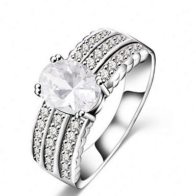 指輪 / 日常 カジュアル ジュエリー 合金 女性 指輪 1個,6 7 8 9 シルバー