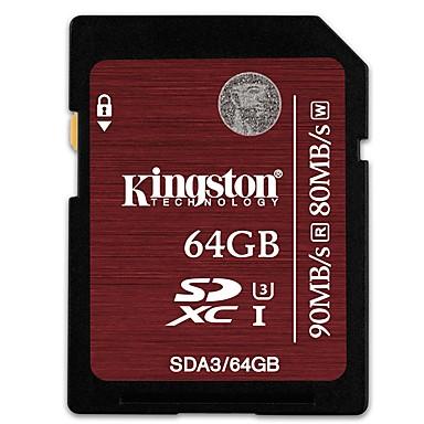 Kingston 64Gt SD kortti muistikortti UHS-I U3 Class10