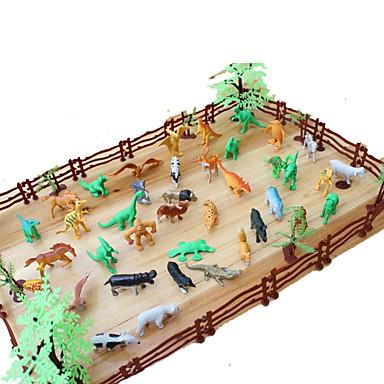 ちびっ子変装お遊び モデル作成キット 恐竜 Tiger 動物 シミュレーション プラスチック ギフト 68pcs